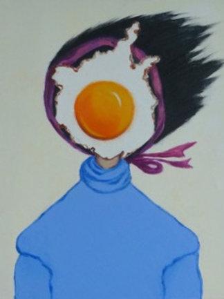 Egg Girl in Blue