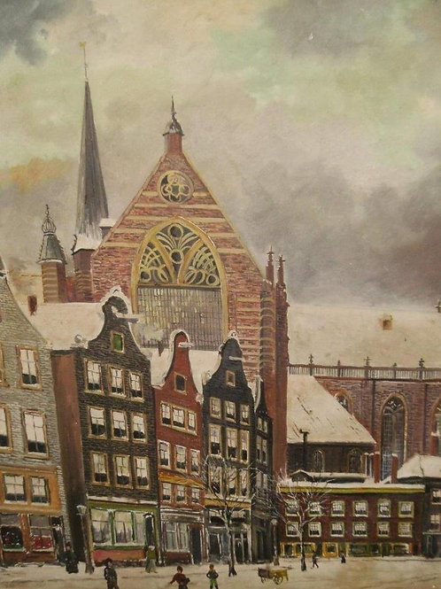 EARLY 20TH CENTURY DUTCH SCHOOL WINTER STREET