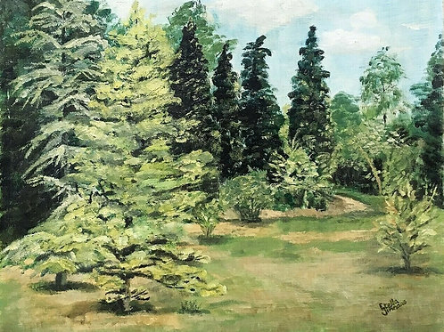 Garden Landscape Oil Painting by Stella Simmons