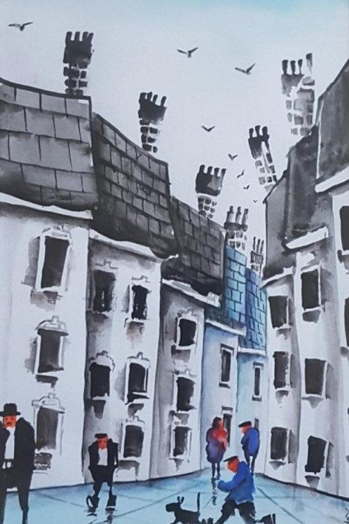 Original Watercolour' Town'