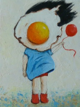 Egg Girl With Red Balloon