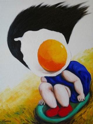 Egg Girl Slip Slidin' Away