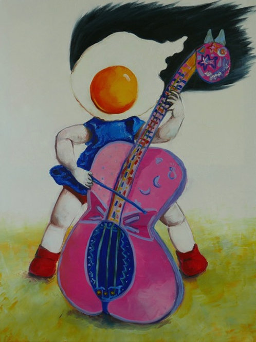 Egg Girl Playing the Cello