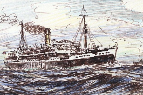 H.G. Moore - Mid 20th Century Pen and Ink Drawing.