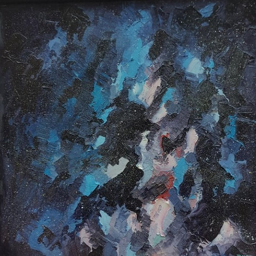 Abstract Oil on Canvas by Tom Davey