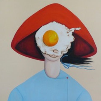 Egg Girl in Red Hat