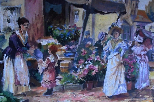 Stunning French Impressionist Oil on Canvas