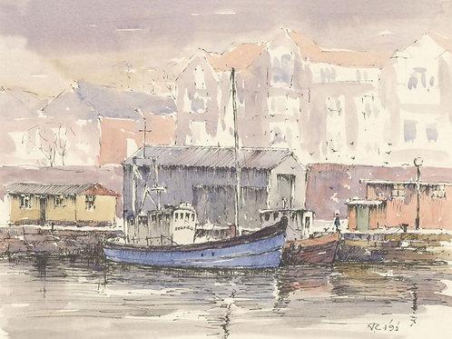 John A. Case - Signed 1992 Watercolour