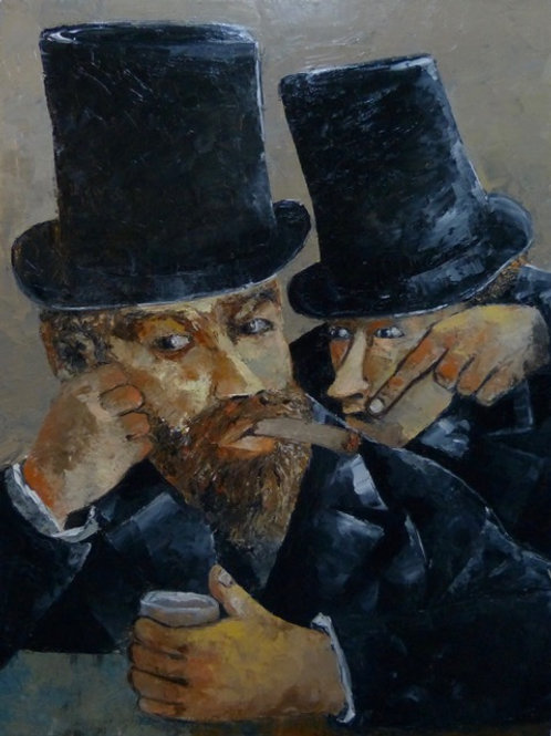 2 men in top hats