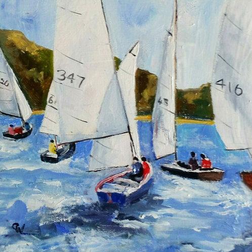Original Oil Painting - 'Regatta Week'