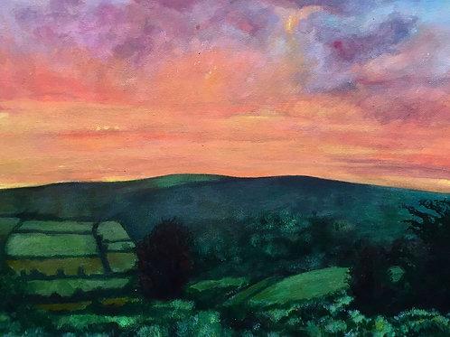 Pink Sky Dartmoor