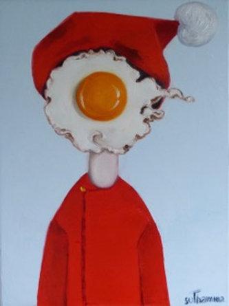 Egg Girl in Red