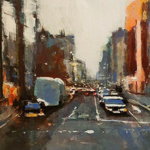 London Street 23, Original Mixed Media by Paul Mitchell