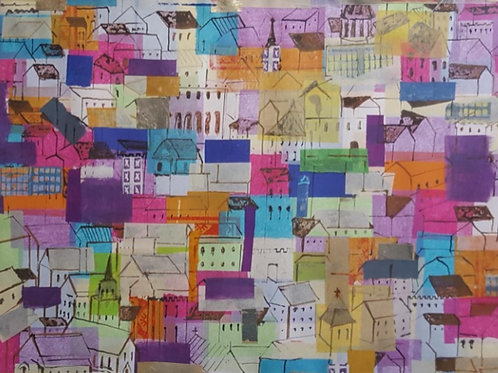 'Clifton Cityscape 2' - Original Collage by Sarah Cowper