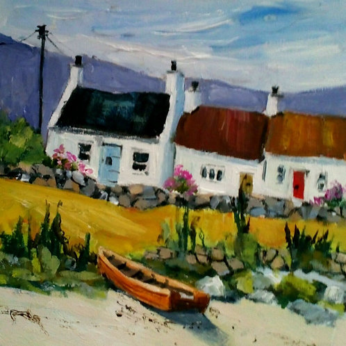 Cottages Near The Shore by Carol West