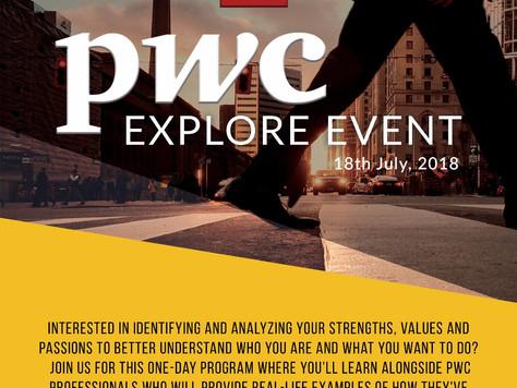 PwC Explore Event - APPLY NOW