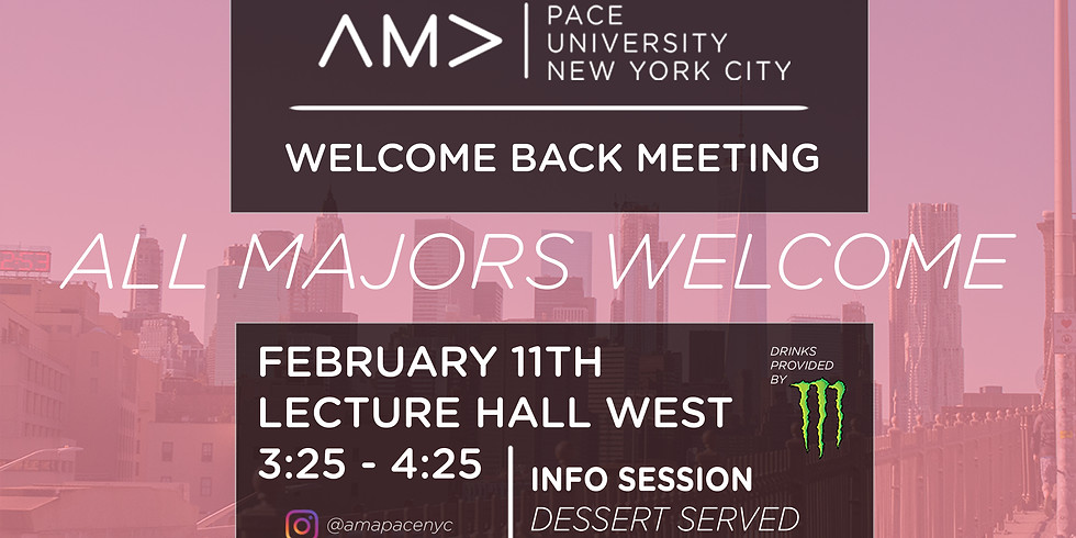 Welcome Back Meeting
