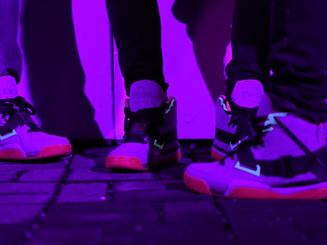 Ewing Athletics Teddy Rucks of Sneaker Release Party at Black Ink