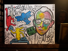 Collage Live Art Birthday Tribute to Keith Haring