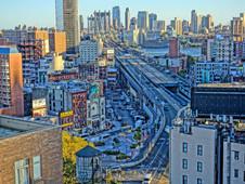 Manhattan Bridge City Skyline