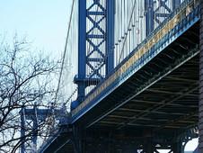 Manhattan Bridge View From Below