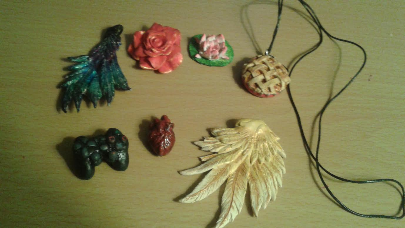 small clay objects