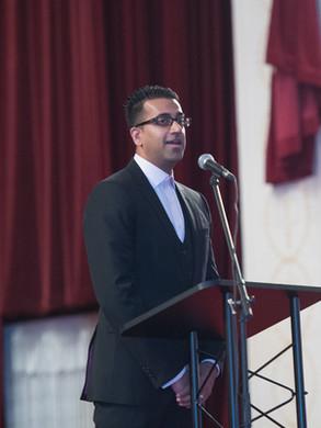 Mister V speaking at Graduation