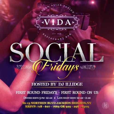 Vida Restaurant | Social Fridays