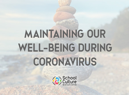 2. Maintaining Our Well-being During Coronavirus