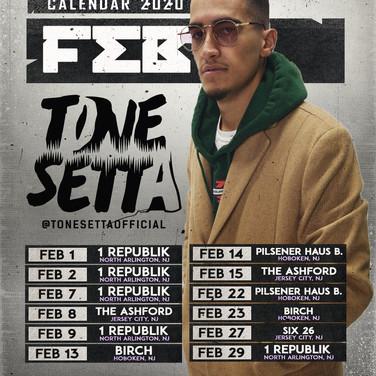 Tone Setta | February Calendar