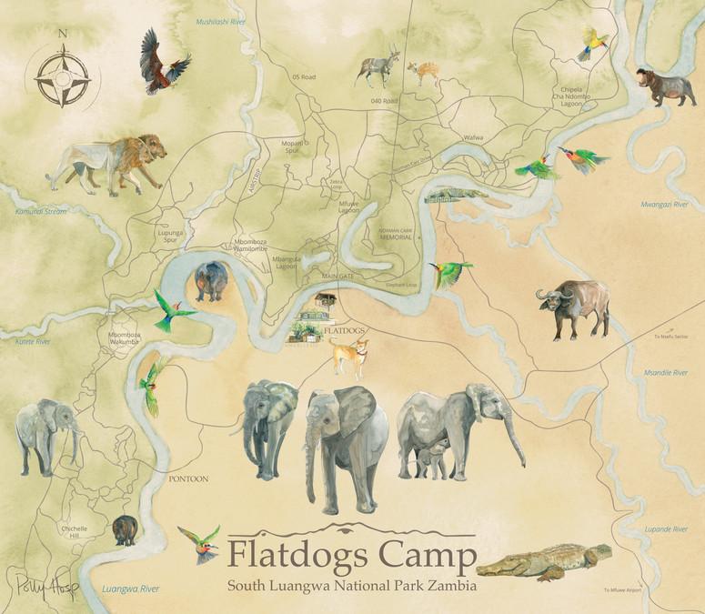 Flatdogs Camp Map