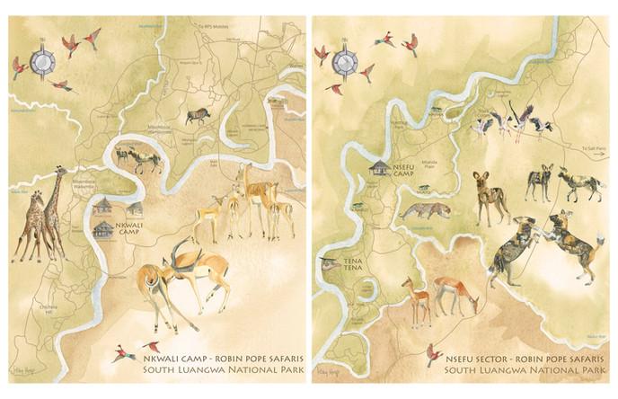 Robin Pope Safaris Maps