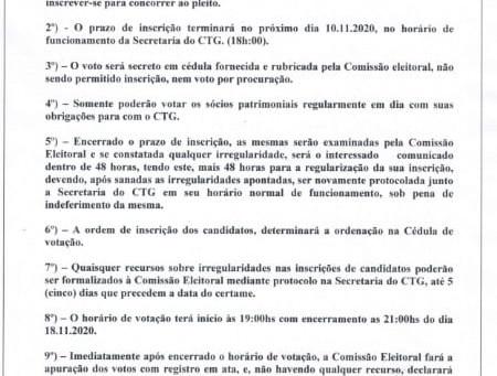 Comissão Eleitoral - Candidatos