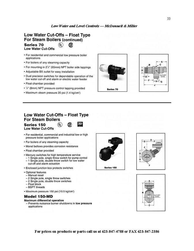 Low Water Cut-Offs High Pressure Steam