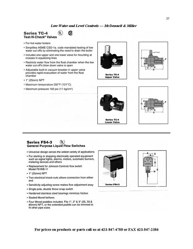 Test-N-Check Valves & Flow Switches