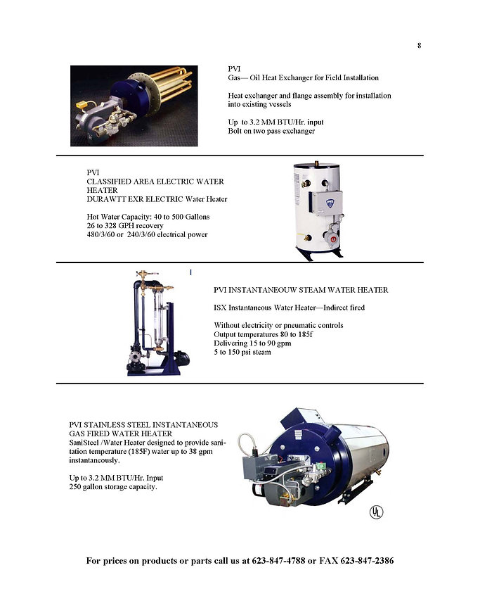 PVI Hot Water Heaters & Boilers