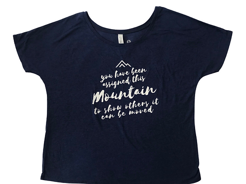 Assigned this Mountain Tshirt Blue