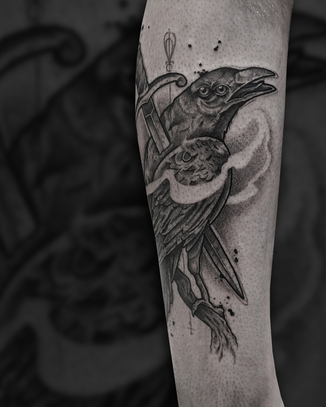 Tattoo Zincik - Crow black tattoo