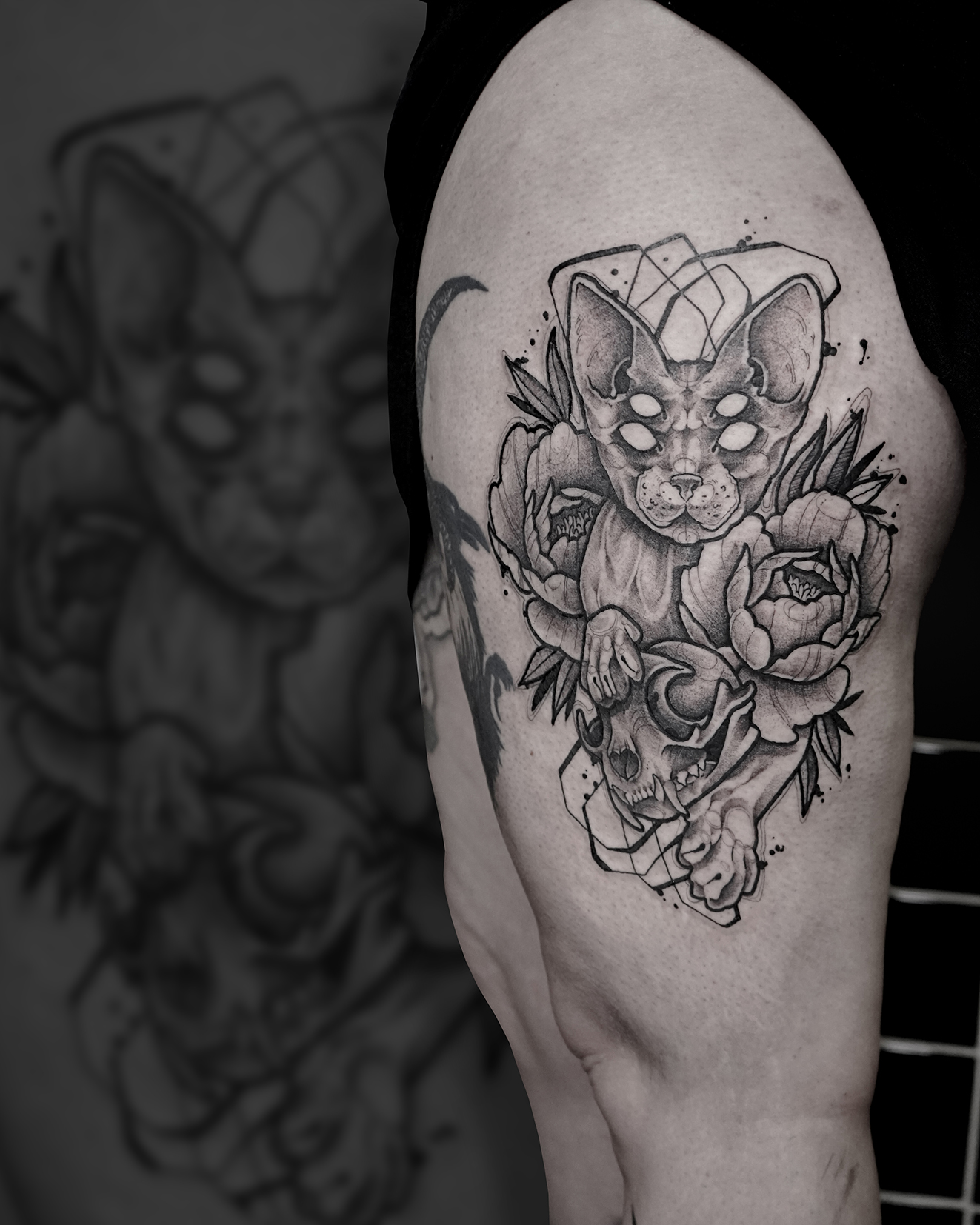 Tattoo Zincik - Sphynx Cat skull