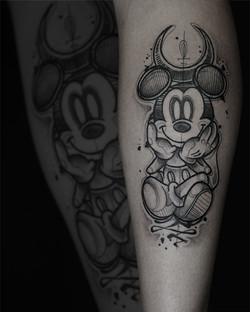 Tattoo Zincik - Mickey Mouse dark tattoo