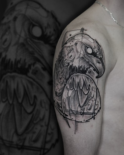 Tattoo Zincik - Eagle tattoo sketch