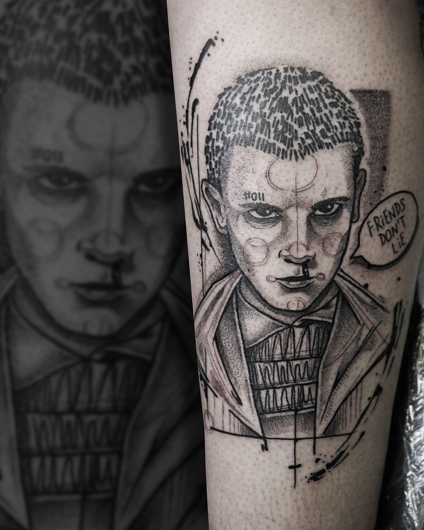 Tattoo Zincik Eleven Stranger Things