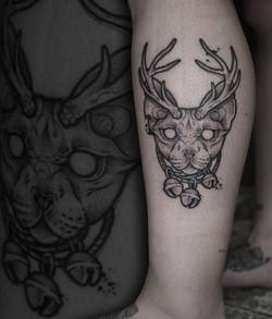 Tattoo Zincik - Black cat tattoo