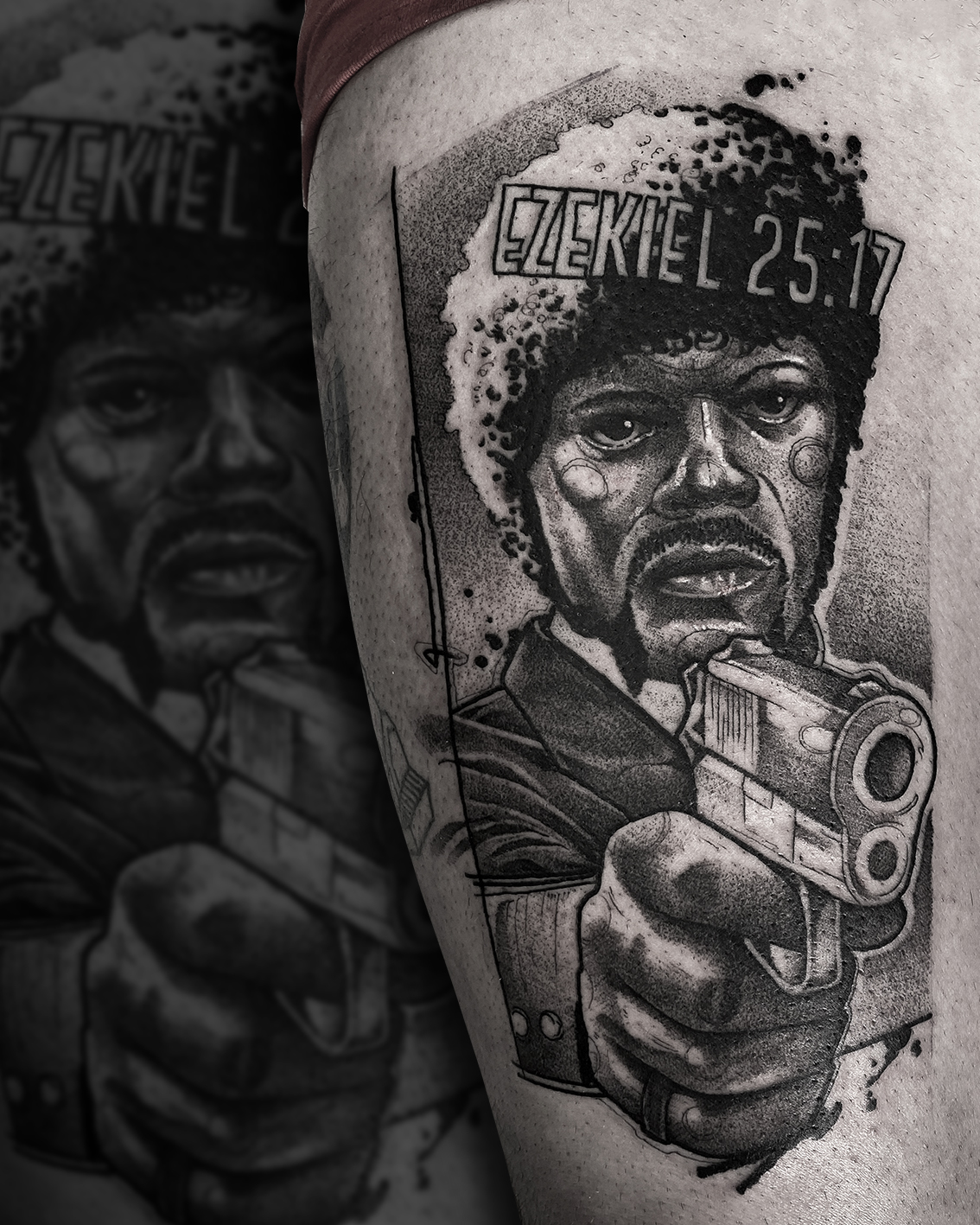 Tattoo Zincik - Pulp fiction black tatto