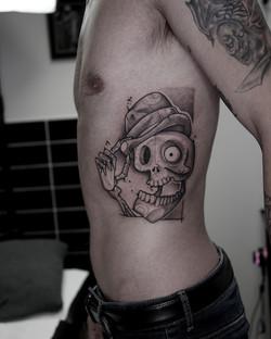 Tattoo Zincik - Skull tim Burton 001