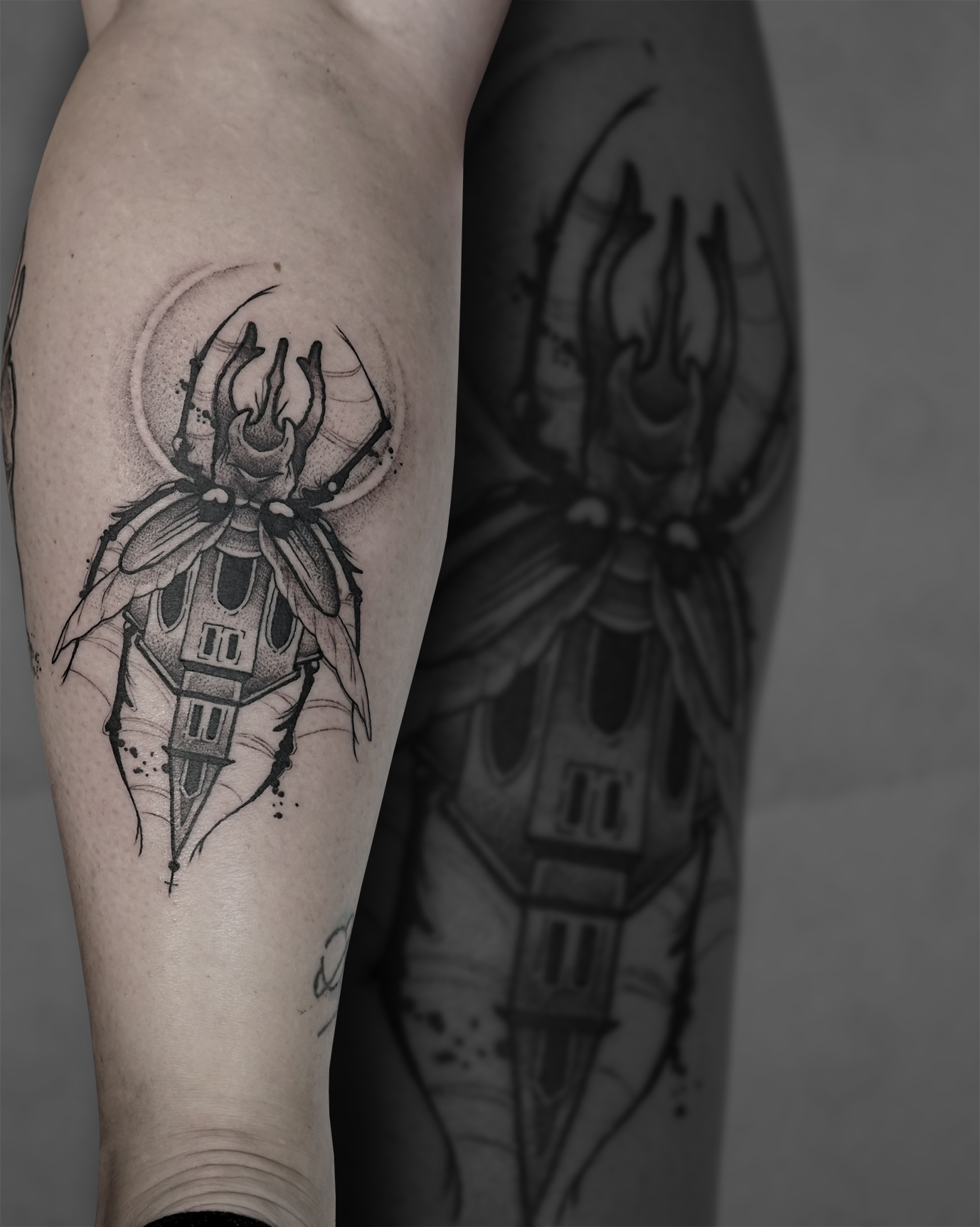 Tattoo Zincik - Bug church black tattoo.