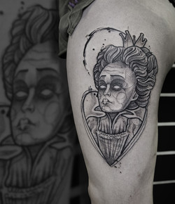 Tattoo Zincik - Heart queen