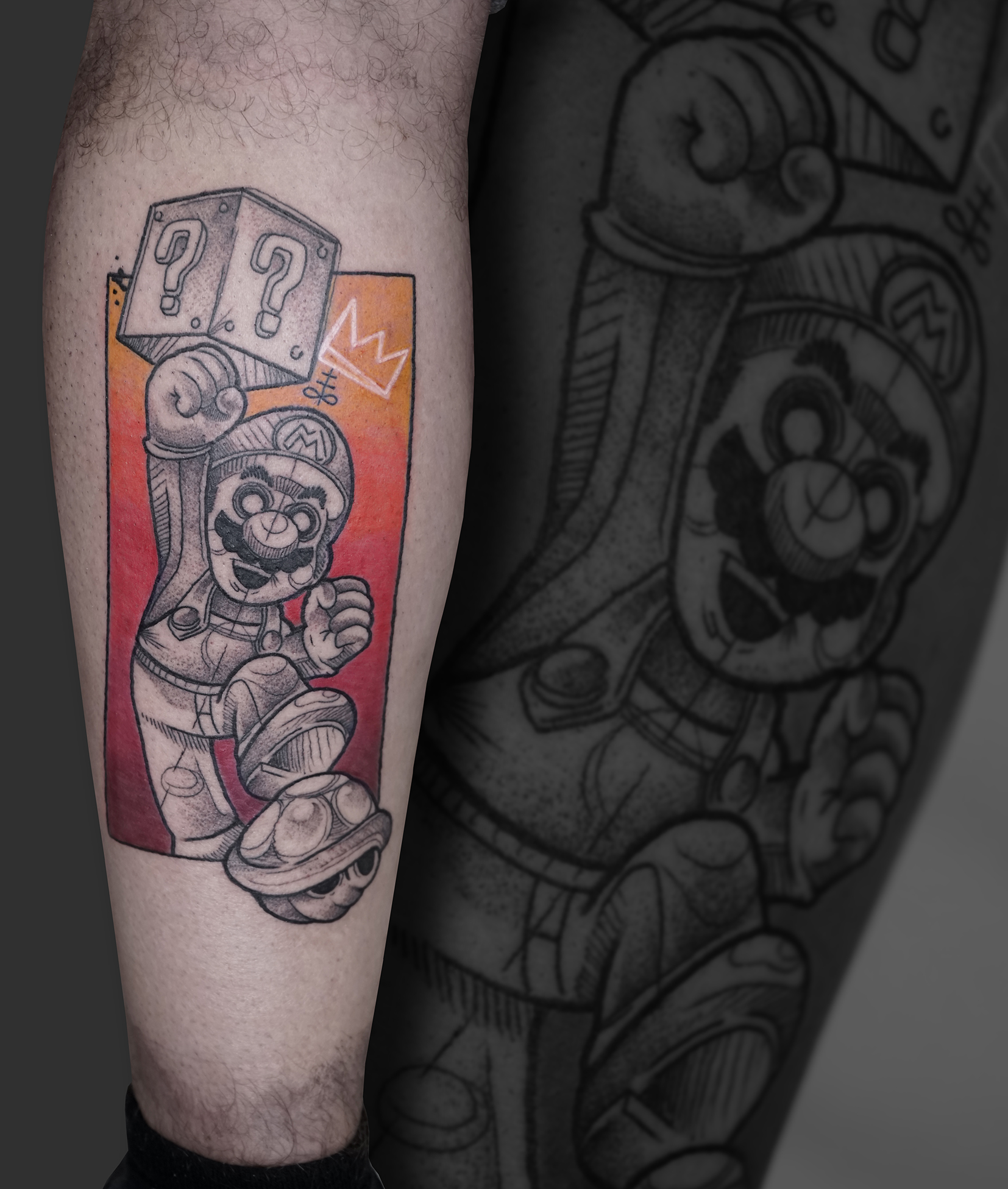 Tattoo Zincik - mario Sketch tattoo