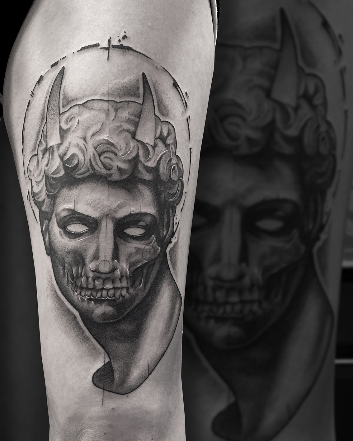 Tattoo Zincik - Statue devil 001