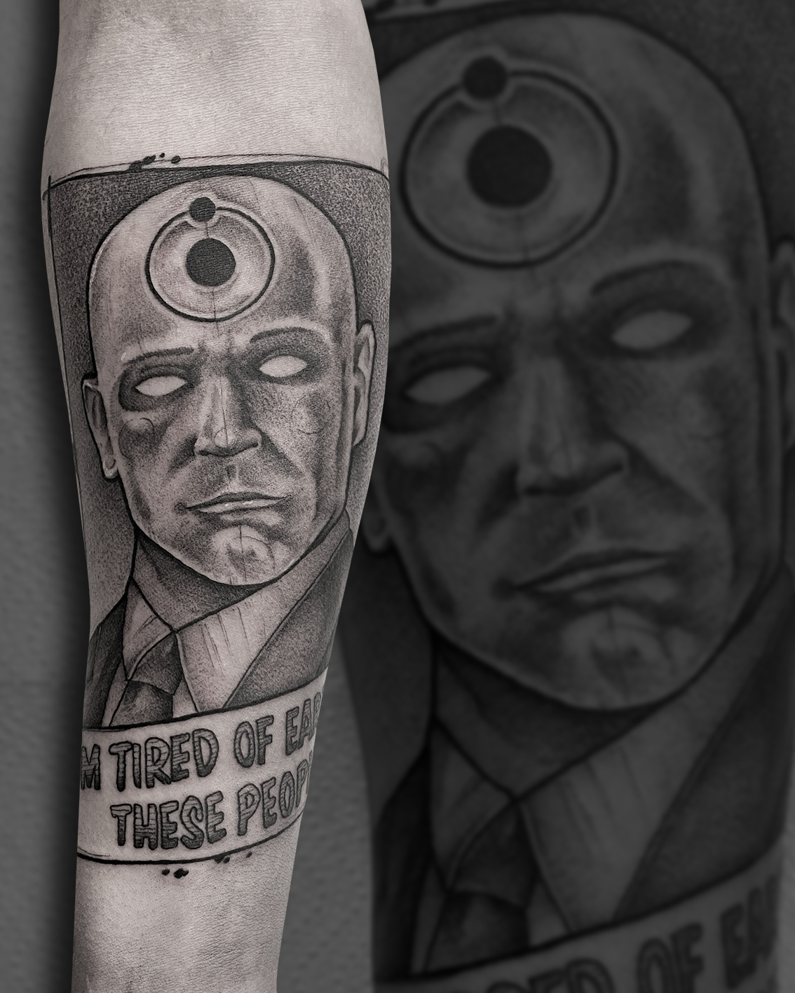 Tattoo Zincik - Dr Manhattan black tatto